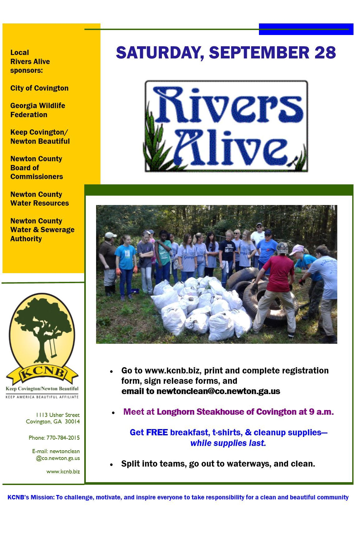 Image of Rivers Alive flyer 2019