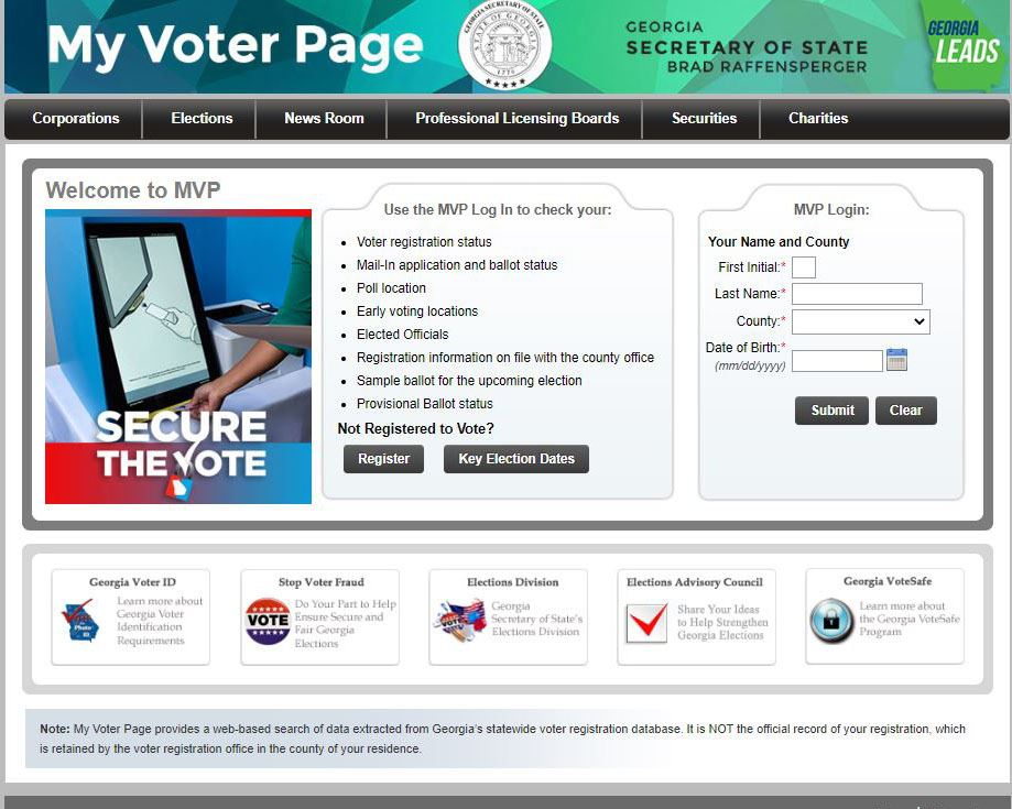 Image of My Voter Page