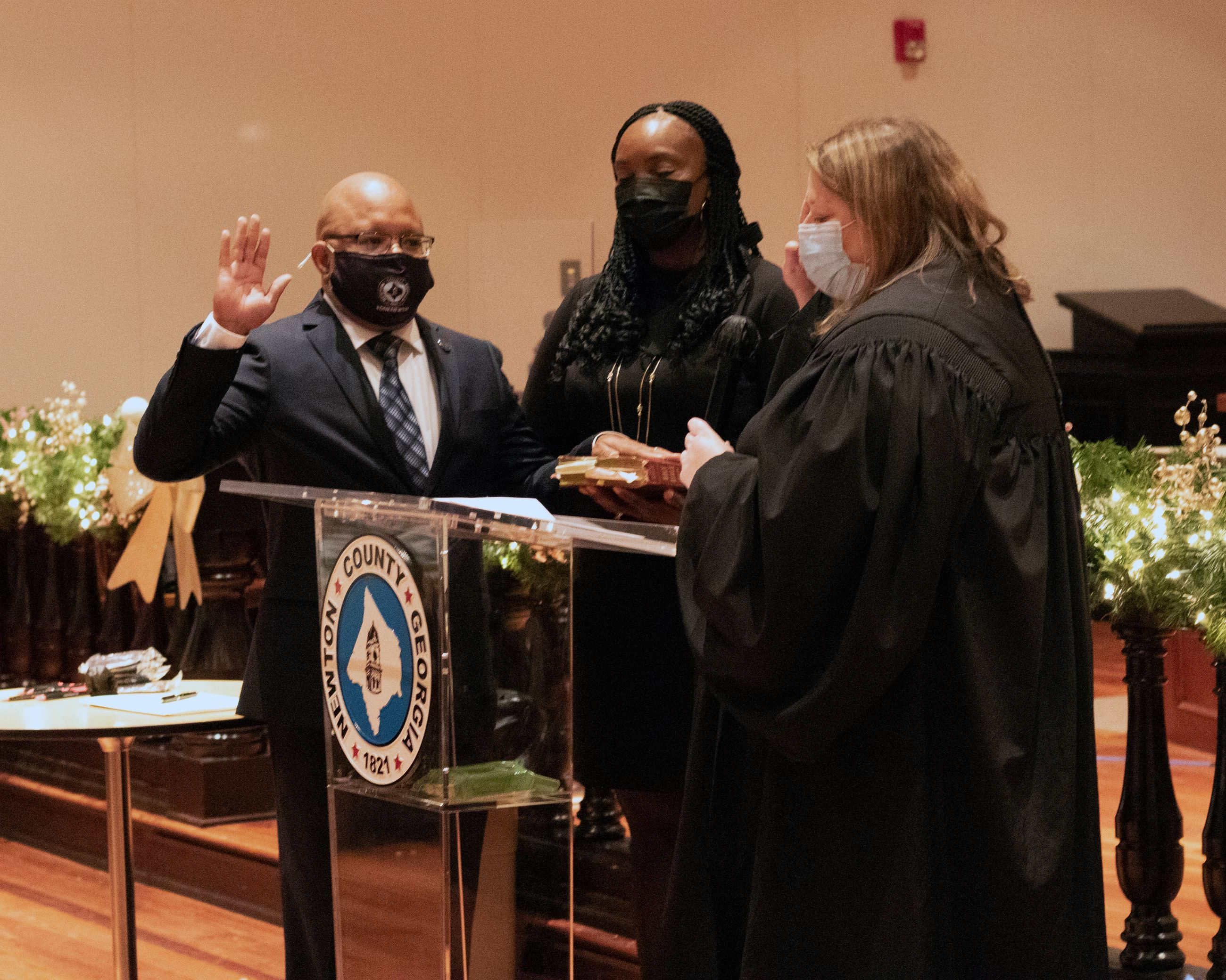 Image of 2020 swearing in Marcus Jordan news