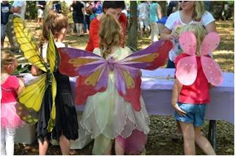 Children in fairy wings